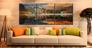Golden Buttermere - 3 Panel Canvas on Wall