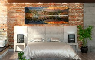 Golden Buttermere - Canvas Print on Wall