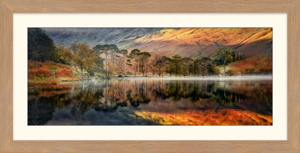 Golden Buttermere - Framed Print with Mount