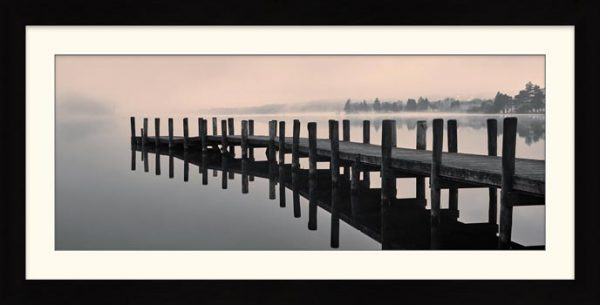 Coniston Jetty - Framed Print with Mount