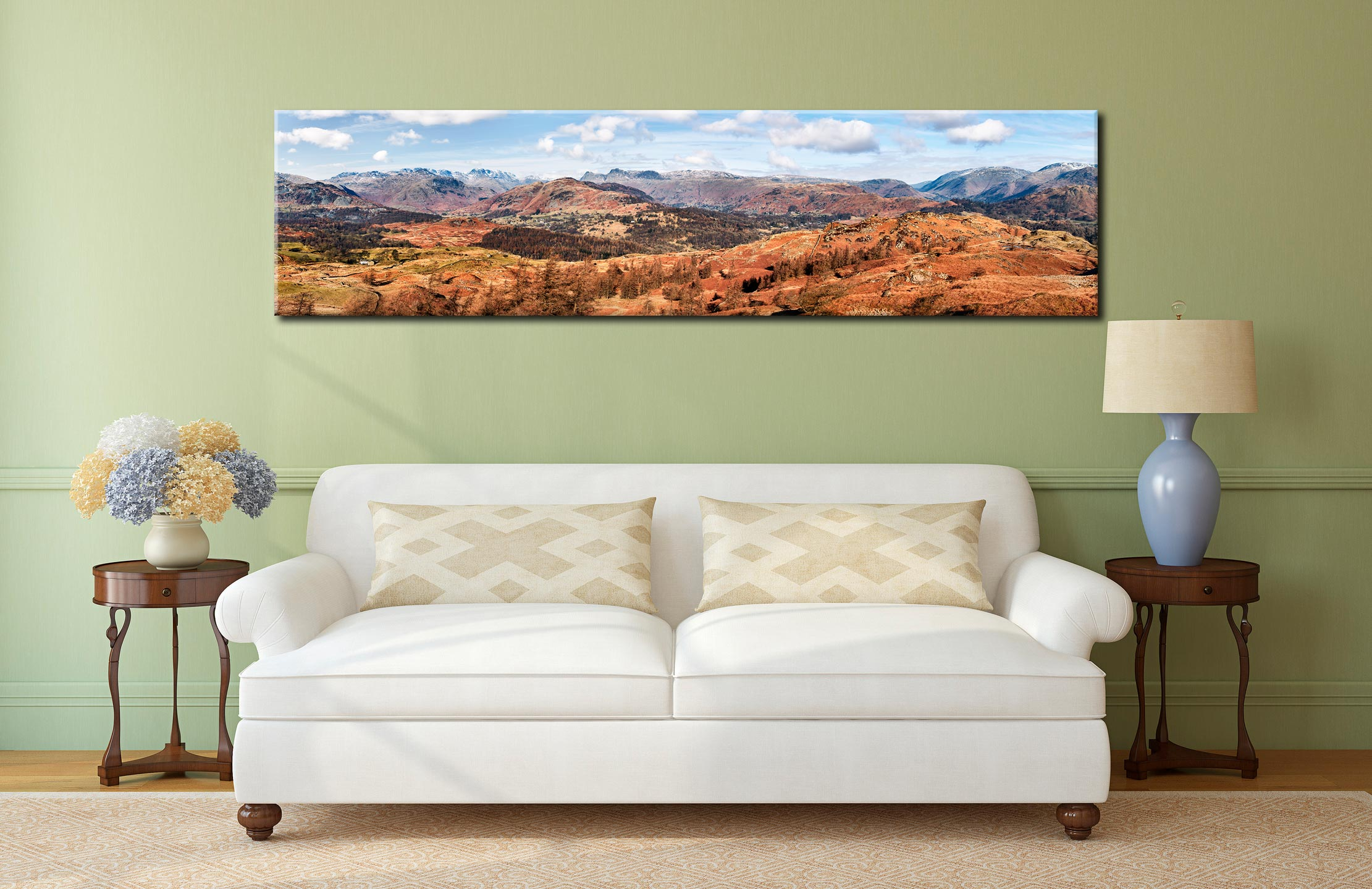 The Langdale Mountains - Lake District Canvas on Wall
