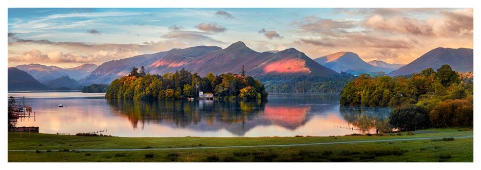 Derwent Water First Light - Prints of Lake District