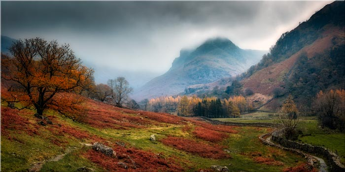 Dark Autumn at Eagle Crag - Lake District Canvas