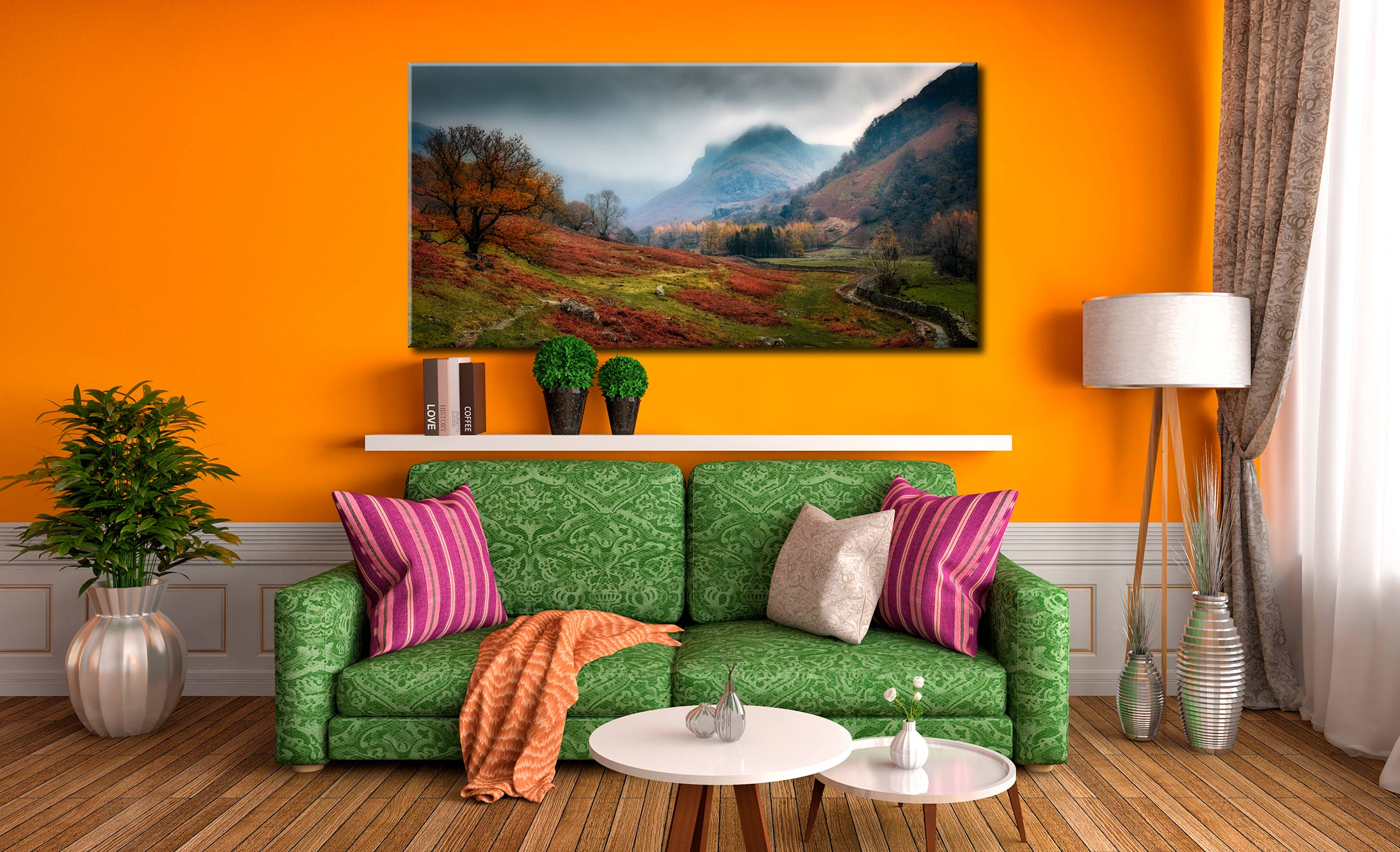 Dark Autumn at Eagle Crag - Lake District Canvas on Wall