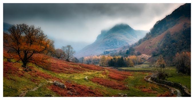 Dark Autumn at Eagle Crag - Lake District Print