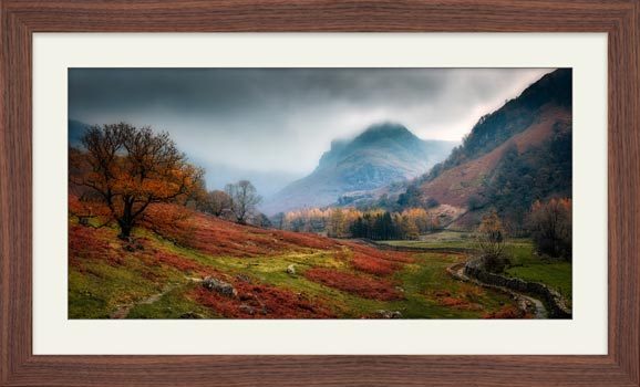 Dark Autumn at Eagle Crag - Framed Print with Mount