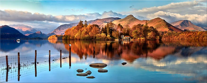 Derwent Water Panorama - Canvas Print