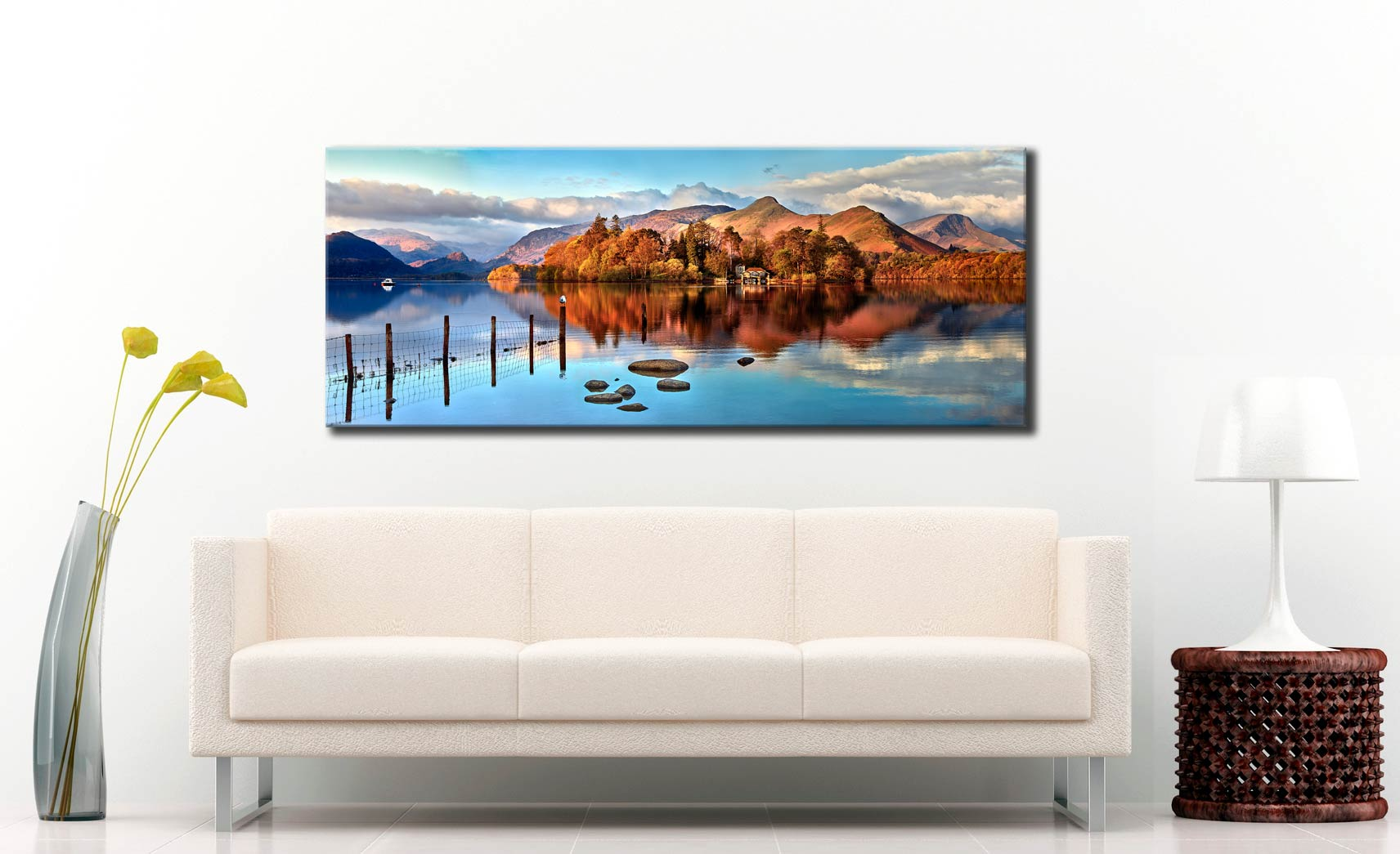 Derwent Water Panorama - Canvas Print on Wall