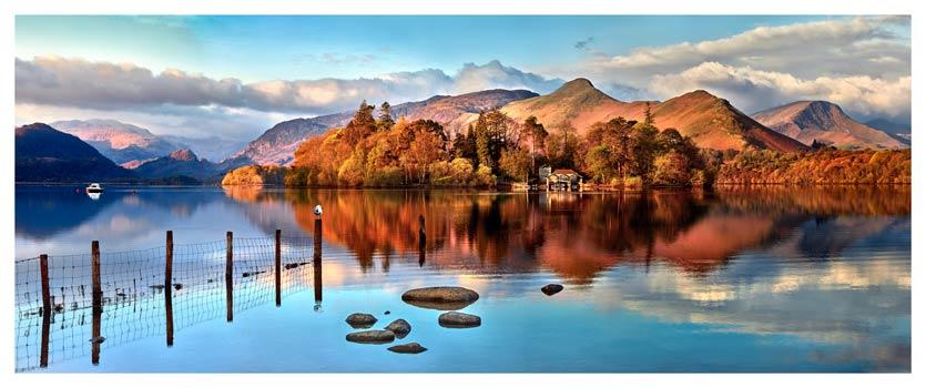 Derwent Water Panorama - Lake District Print
