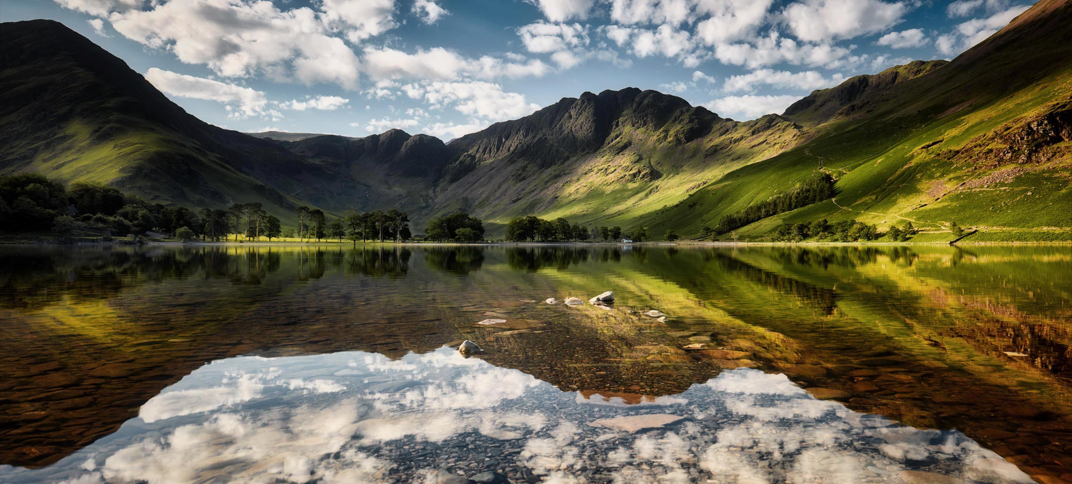 Fluffy White-Clouds Over Buttermere mug
