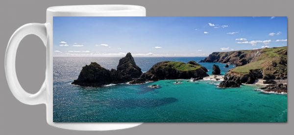 Kynance Cove Panorama Mug