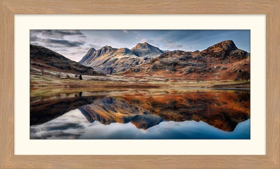 Dusk Over Blea Tarn - Framed Print with Mount
