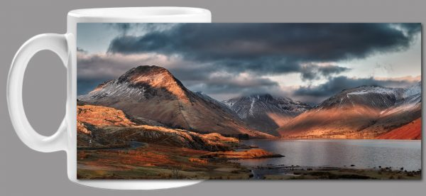 Winter Sun Over Wast Water Mug Wrap