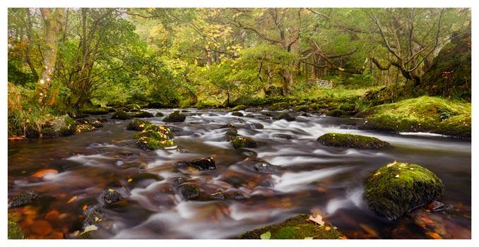 Start of Autumn River Rothay - Lake District Print
