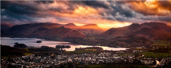 Sun Rays Over Cat Bells - Canvas Print