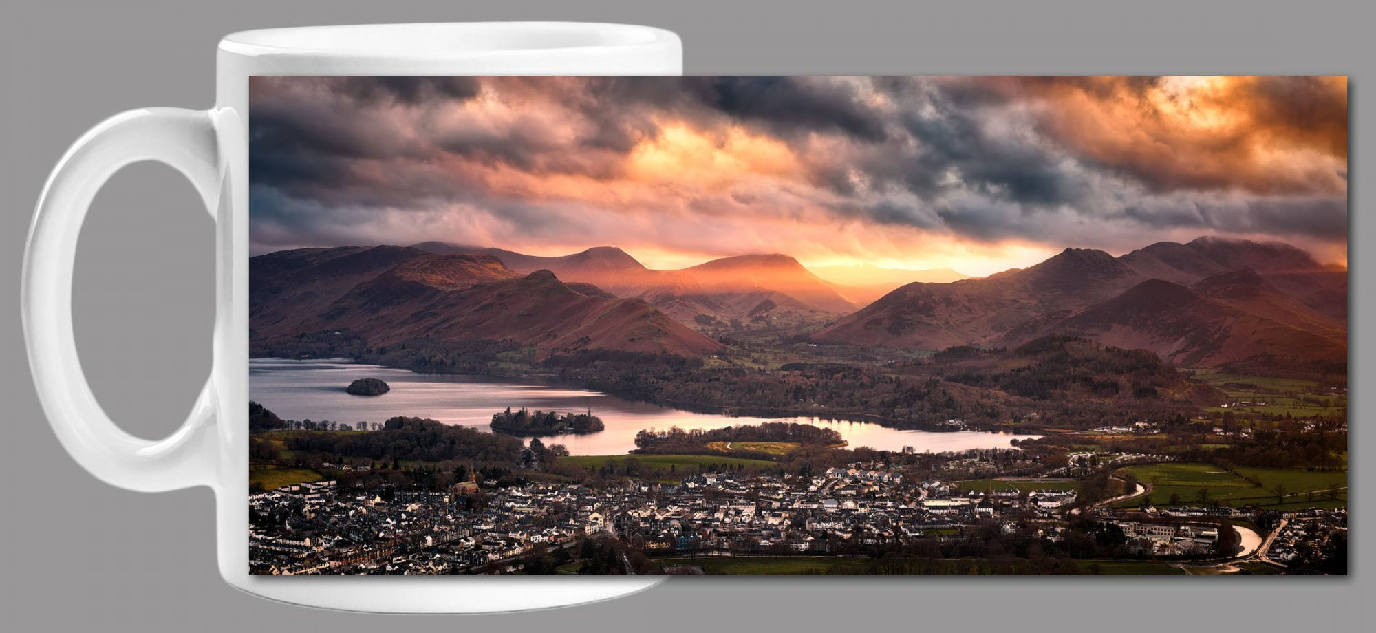 Rays of the Setting Sun Over-Cat Bells Mug