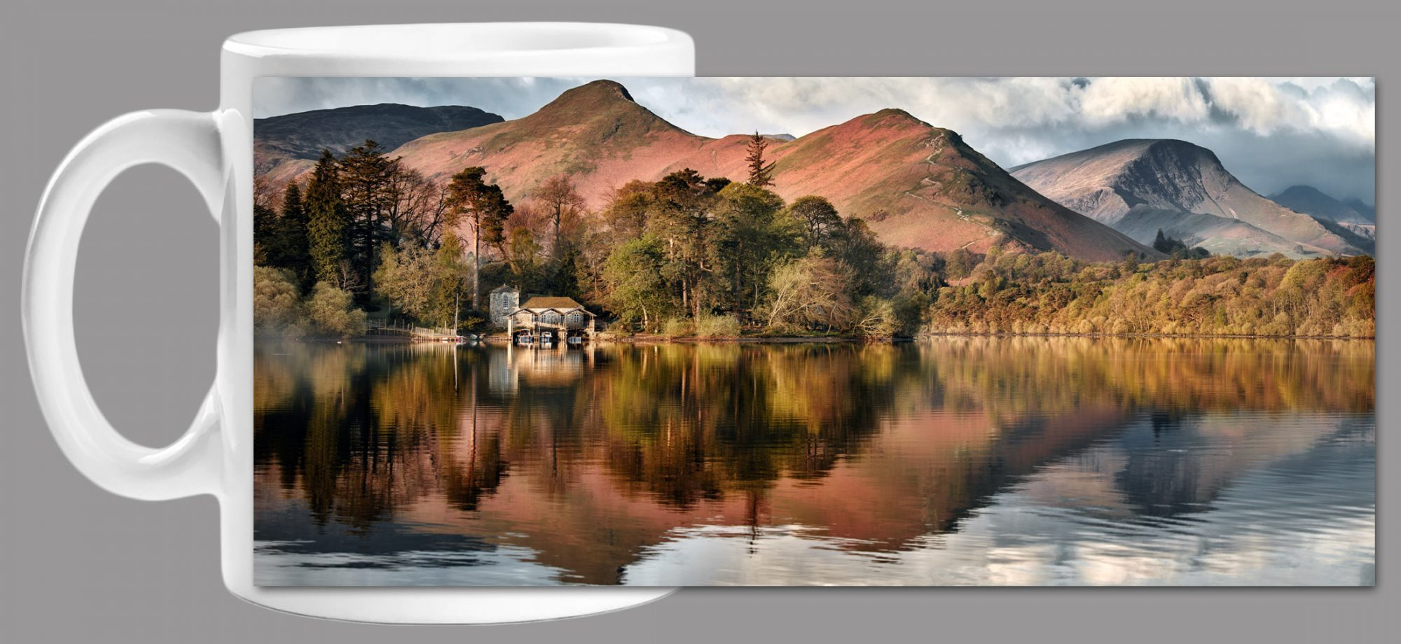 Derwent Boathouse Cat Bells Mug