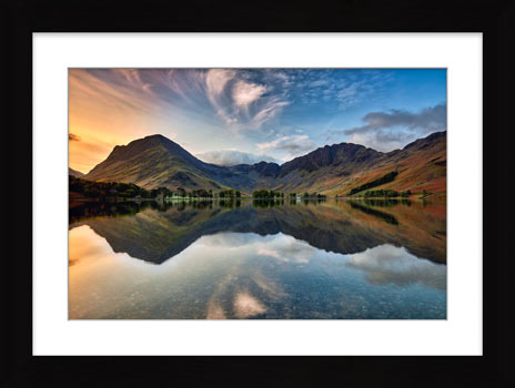 Breaking Dawn Buttermere – Framed Print with Mount