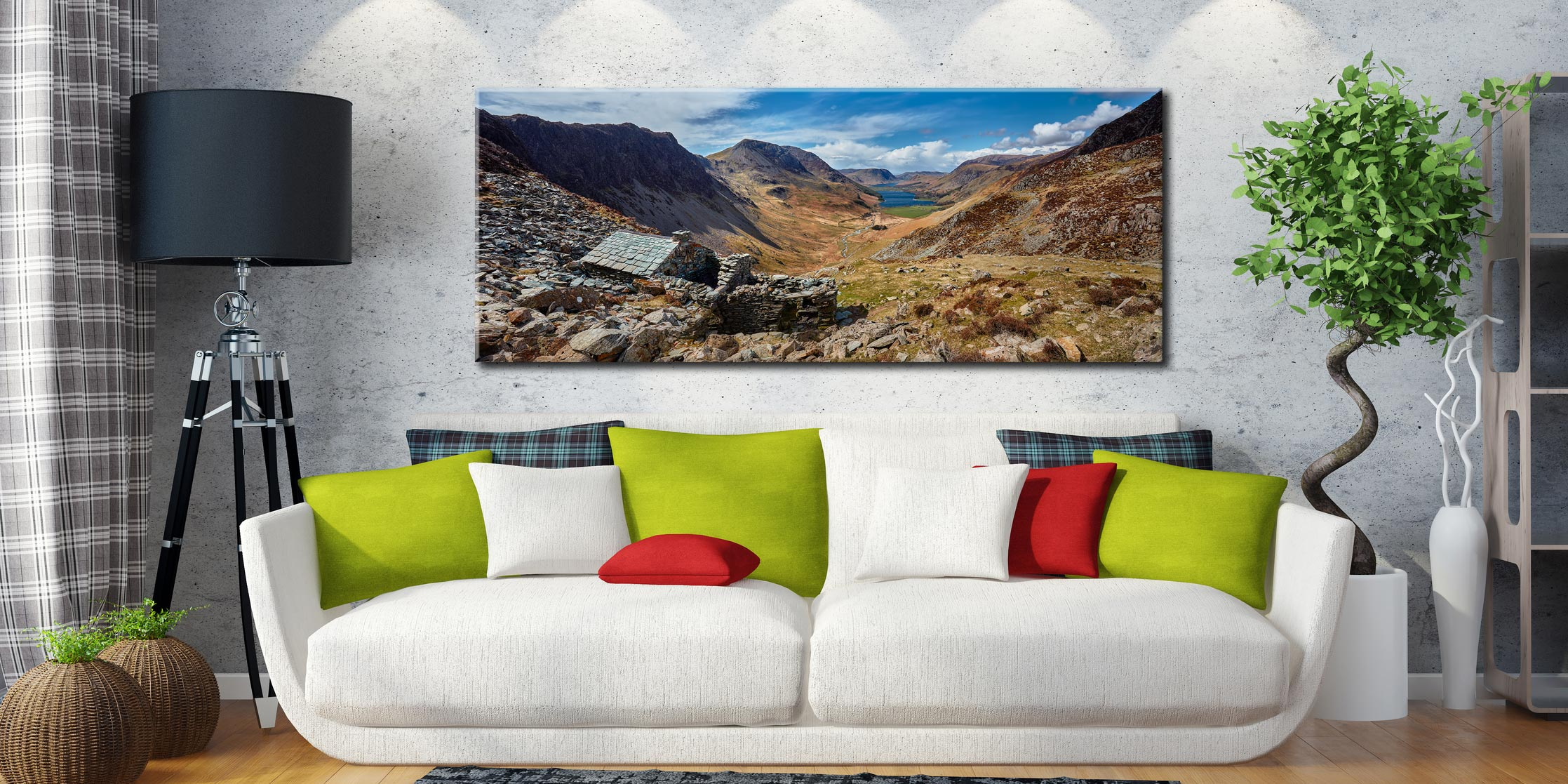 Warnscale Bothy and Buttermere Valley - Canvas Print on Wall