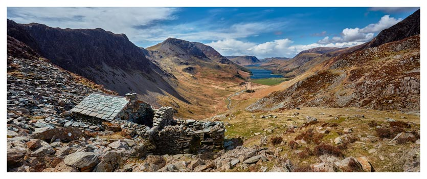 Warnscale Bothy and Buttermere Valley - Lake District Print