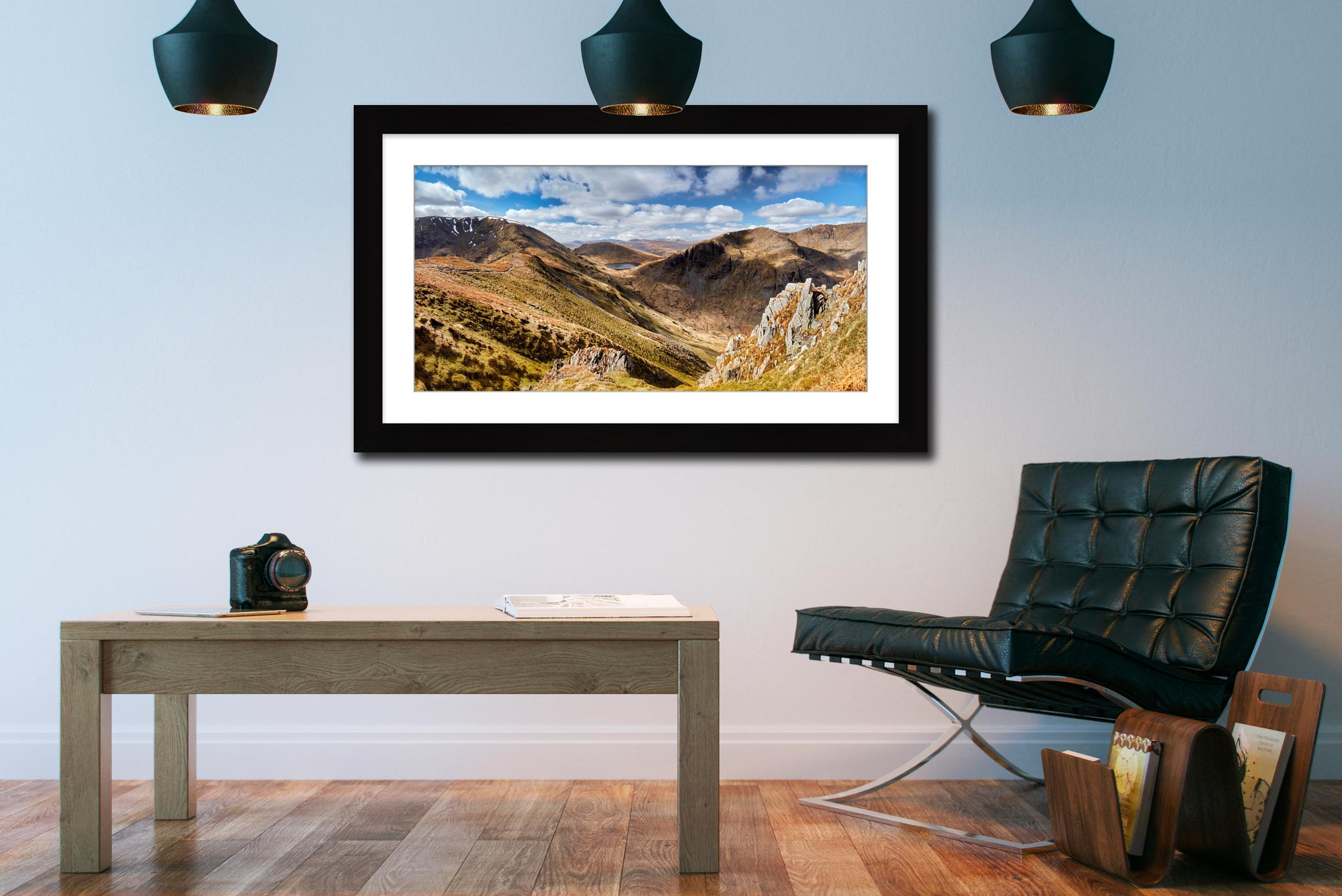 Fairfield to Dollywagon Pike - Framed Print with Mount on Wall