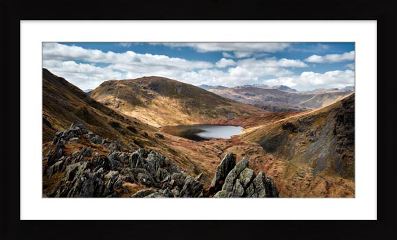 Grisedale Tarn Bowl - Framed Print with Mount