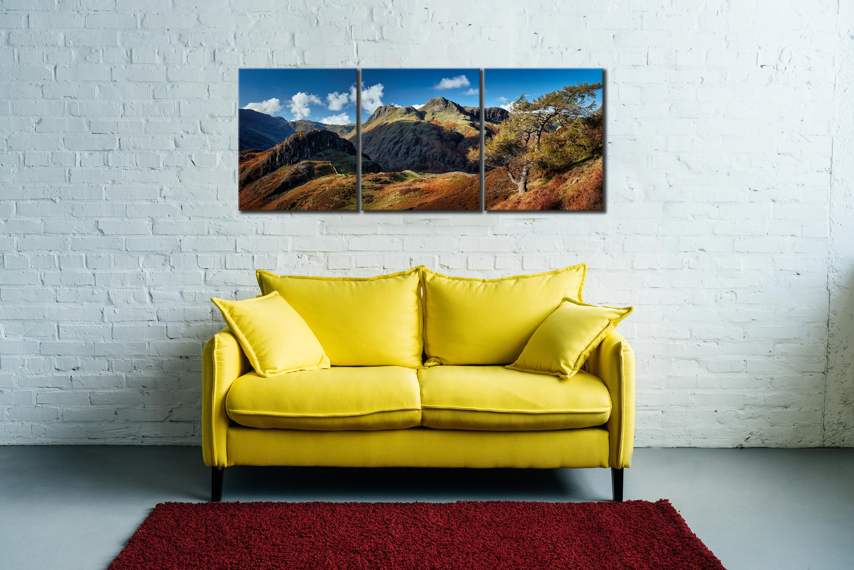 Langdales and Side Pike - Canvas Print on Wall
