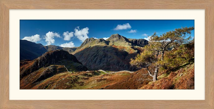 Langdales and Side Pike - Framed Print with Mount