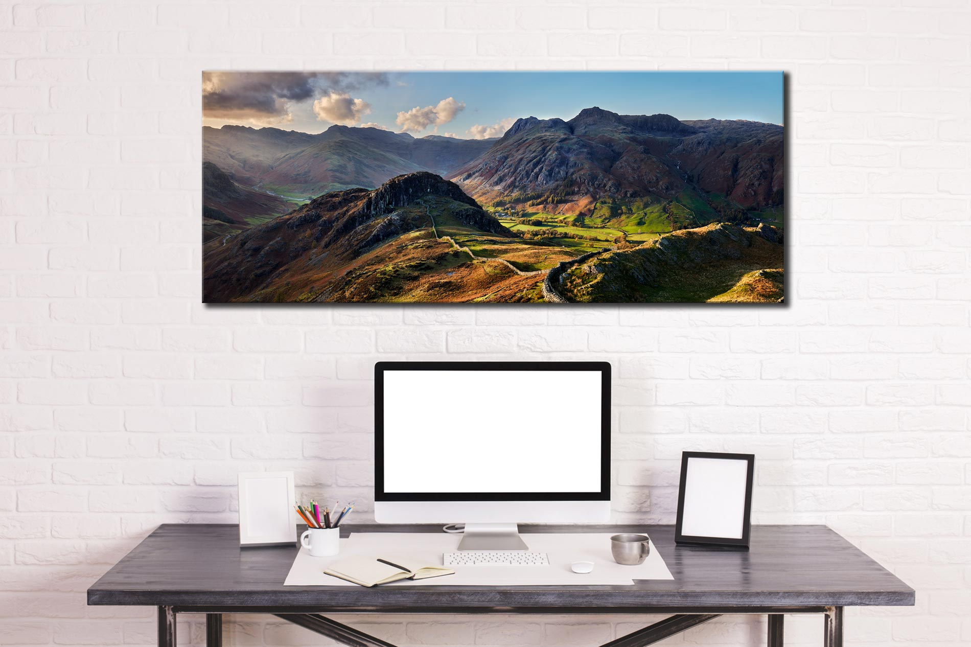 Side Pike Panorama - Canvas Print on Wall