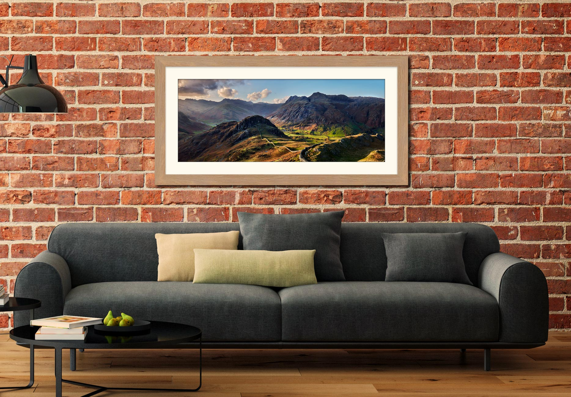 Side Pike Panorama - Framed Print with Mount on Wall