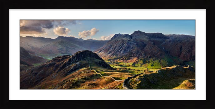 Side Pike Panorama - Framed Print with Mount