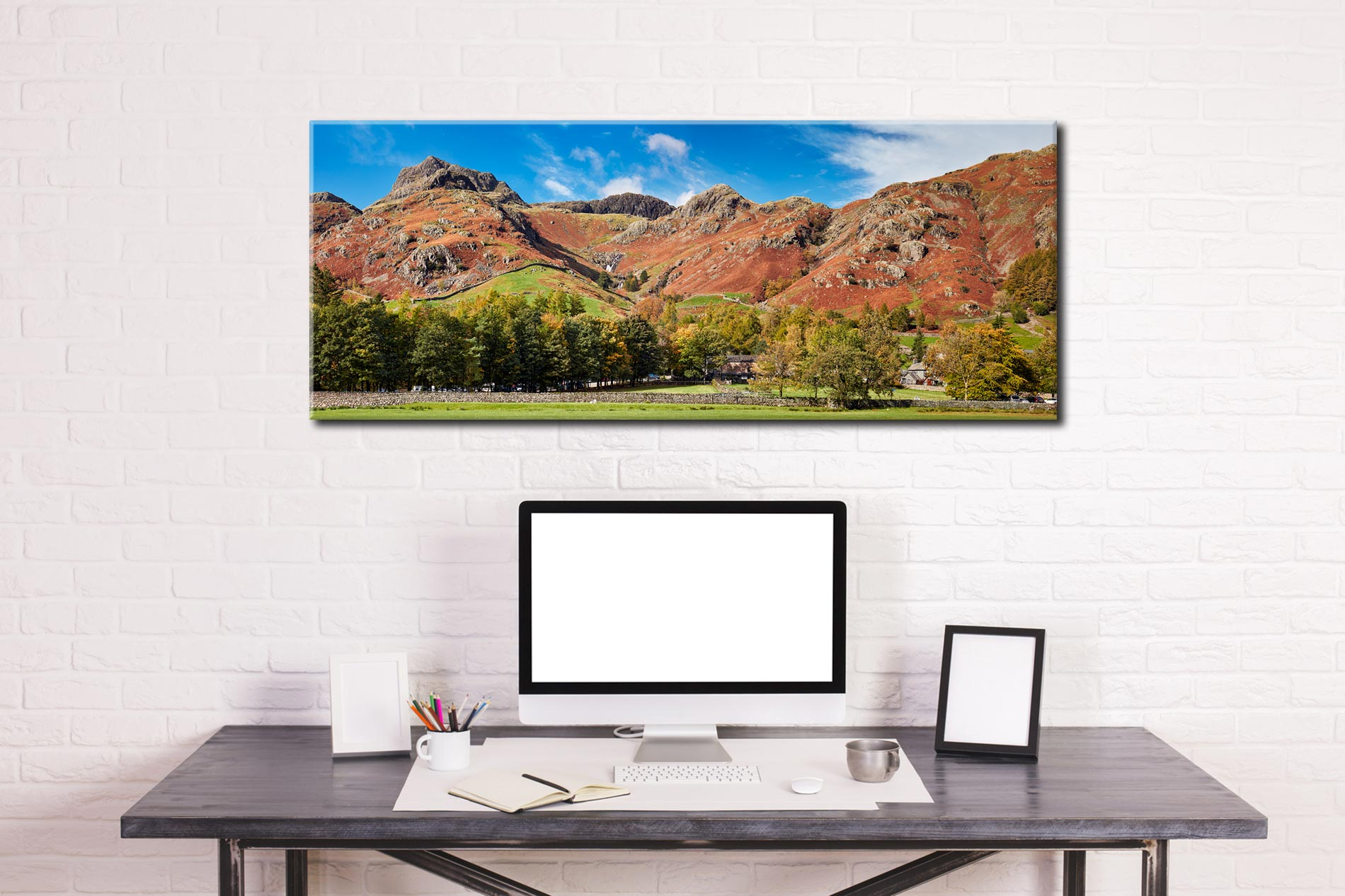 Dungeon Ghyll Panorama - Canvas Print on Wall