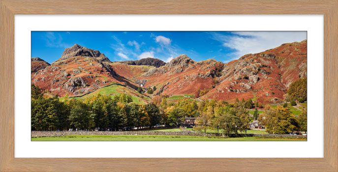 Dungeon Ghyll Panorama - Framed Print with Mount