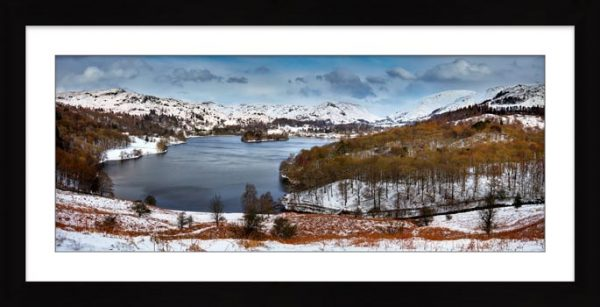 Grasmere Winter Panorama - Framed Print with Mount