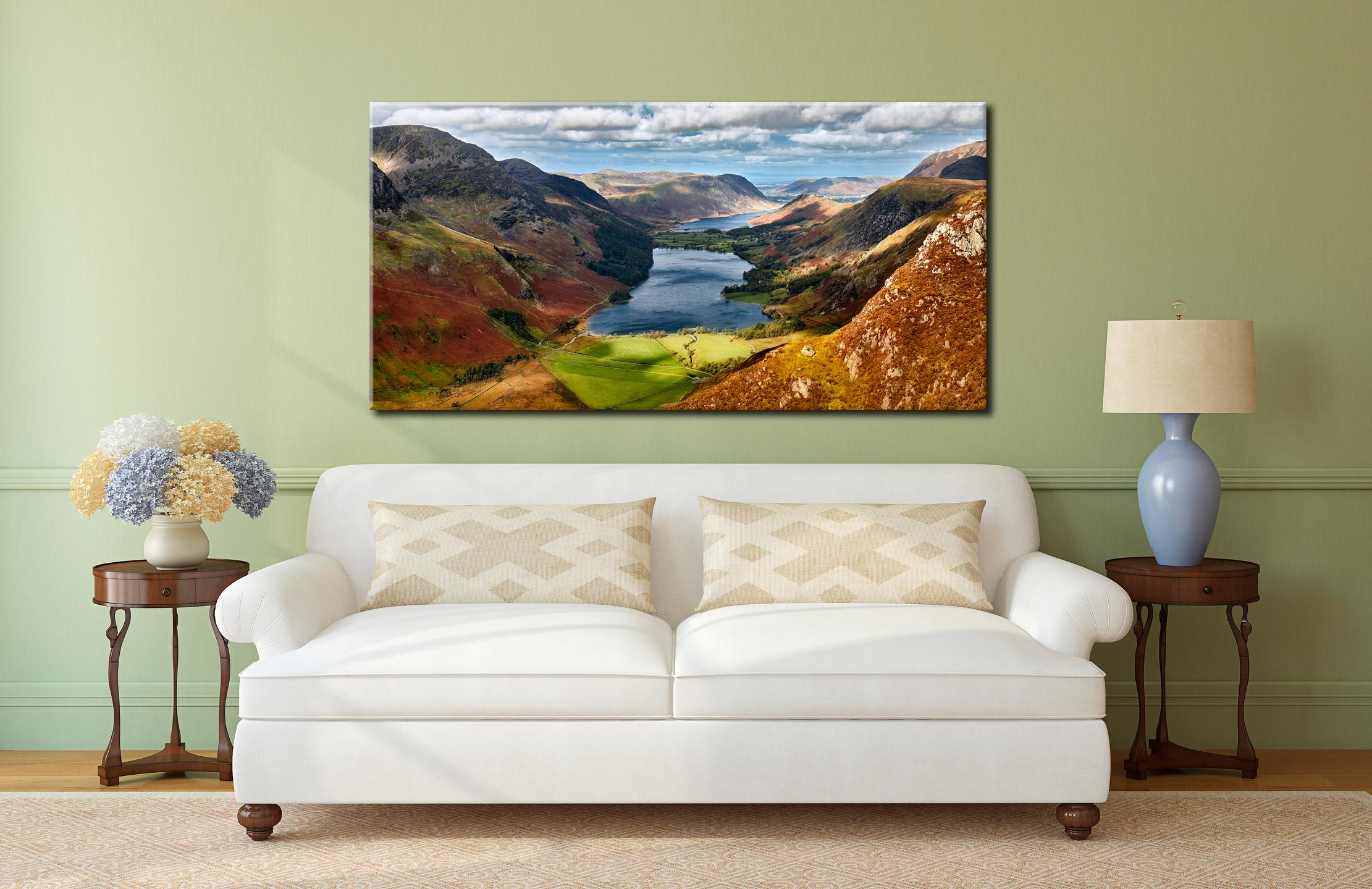 Buttermere From Fleetwith Pike - Lake District Canvas on Wall