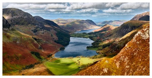 Buttermere From Fleetwith Pike - Lake District Print