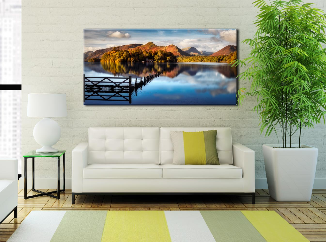 Derwent Water Gate - Lake District Canvas on Wall