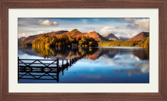 Derwent Water Gate  - Framed Print with Mount