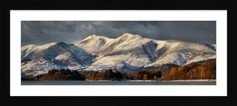 Skiddaw Winter Panorama - Framed Print with Mount