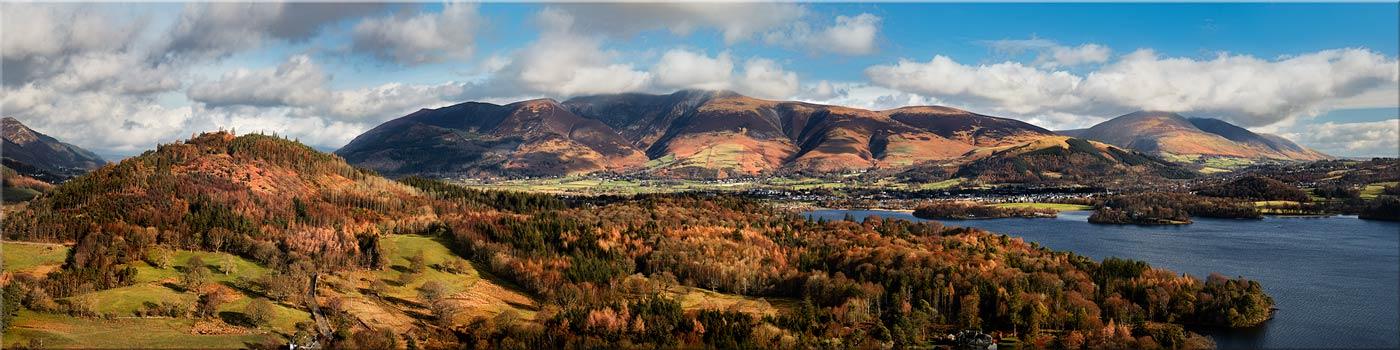 Keswick and Skiddaw Panorama - Canvas Print