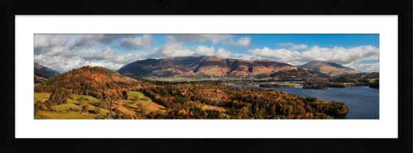 Keswick and Skiddaw Panorama - Framed Print with Mount