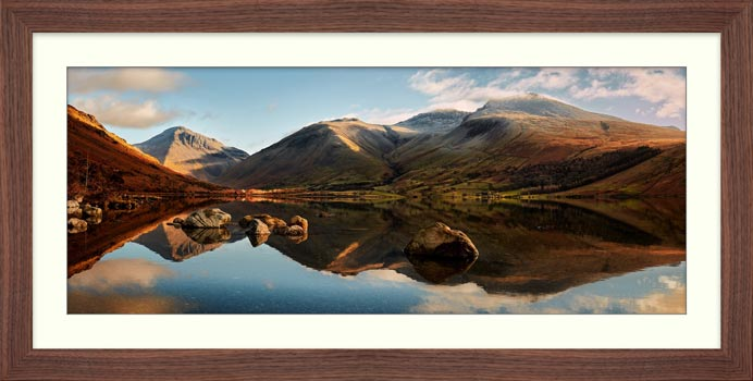 Morning Light on Scafell Pike - Framed Print with Mount