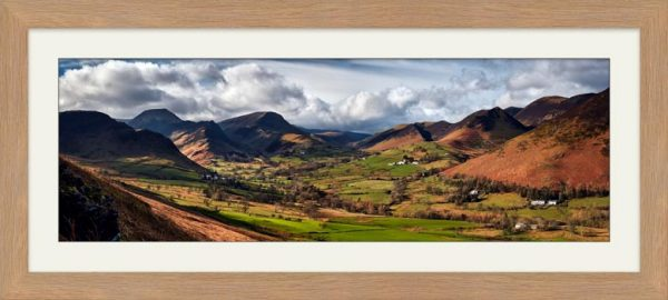 Newlands Valley Spring Sunshine - Framed Print with Mount