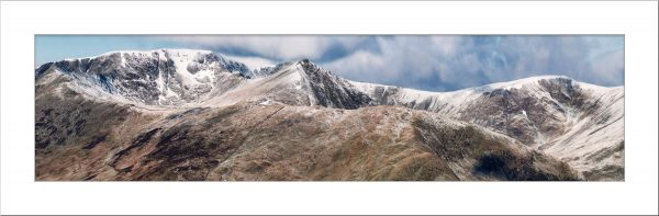 Helvellyn Mountains Panorama mounted print