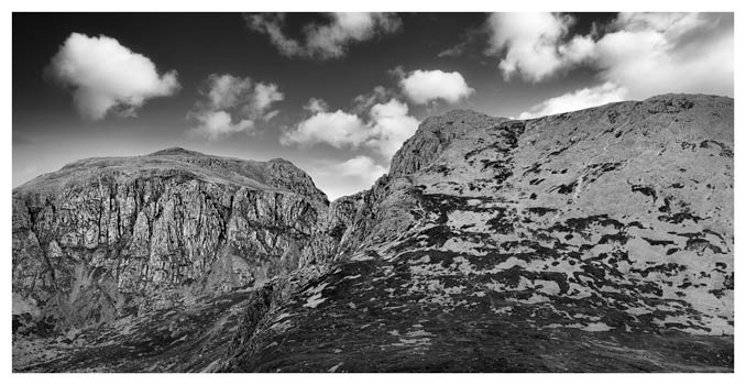 Sca Fell Pikes - Black White Print