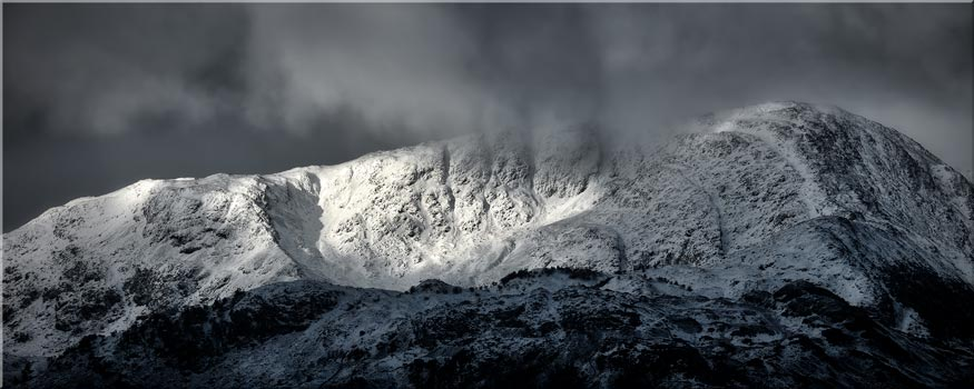 Snow Covered Wetherlam - Canvas Print