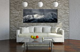 Snow Covered Wetherlam - Canvas Print on Wall