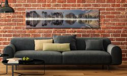 Buttermere Trees Silhouette - Lake District Canvas on Wall