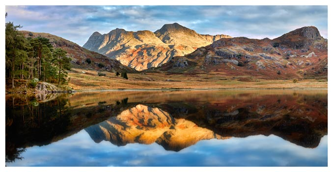 Blea Tarn and Langdale Pikes - Lake District Print
