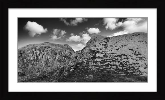 Sca Fell Pikes - Framed Black White with Mount